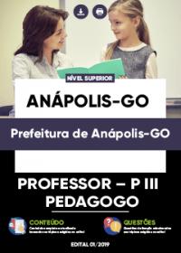 Professor - P III - Pedagogo - Prefeitura de Anápolis-GO