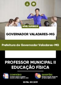 Professor Municipal II - Ed. Física - Prefeitura de Governador Valadares-MG