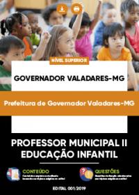 Professor Municipal II - Ed. Infantil - Prefeitura de Governador Valadares-MG