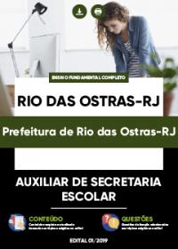Auxiliar de Secretaria Escolar - Prefeitura de Rio das Ostras-RJ