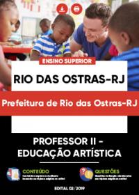 Professor II - Educação Artística - Prefeitura de Rio das Ostras-RJ