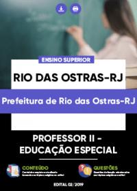 Professor II - Educação Especial - Prefeitura de Rio das Ostras-RJ