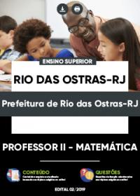 Professor II - Matemática - Prefeitura de Rio das Ostras-RJ