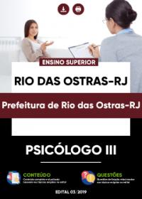 Psicólogo III - Prefeitura de Rio das Ostras-RJ