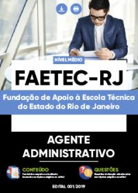Agente Administrativo - FAETEC-RJ