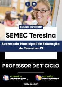 Professor de 1º Ciclo - SEMEC Teresina