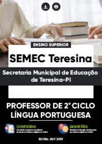 Professor de 2º Ciclo - Língua Portuguesa - SEMEC Teresina