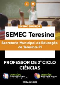 Professor de 2º Ciclo - Ciências - SEMEC Teresina