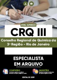 Especialista em Arquivo - CRQ III