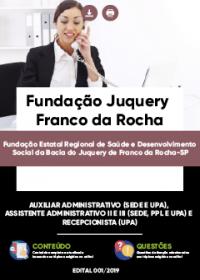 Auxiliar Administrativo - Fundação Juquery Franco da Rocha-SP