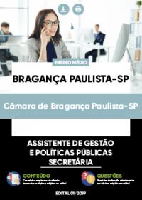 Assistente de Gestão - Secretária - Câmara de Bragança Paulista-SP