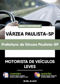 Motorista de Veículos Leves - Prefeitura de Várzea Paulista-SP