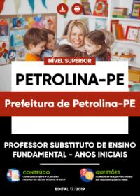Professor Subs. do Ens. Fundamental - Anos Iniciais - Prefeitura de Petrolina-PE