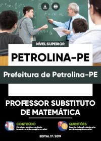 Professor Substituto de Matemática - Prefeitura de Petrolina-PE