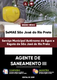 Agente de Saneamento III - SeMAE São José do Rio Preto