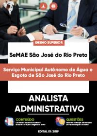 Analista Administrativo - SeMAE São José do Rio Preto