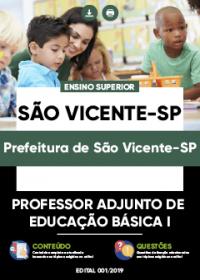 Professor Adjunto de Educação Básica I - Prefeitura de São Vicente-SP