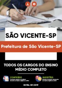 Todos os Cargos do Ensino Médio Completo - Prefeitura de São Vicente-SP