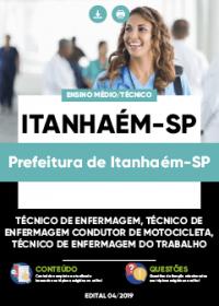 Técnico de Enfermagem - Prefeitura de Itanhaém-SP