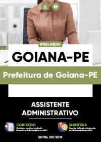 Assistente Administrativo - Prefeitura de Goiana-PE