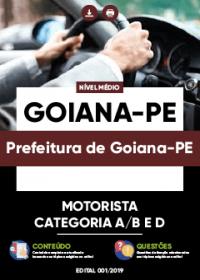 Motorista Categoria A-B e D - Prefeitura de Goiana-PE