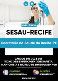 Cargos 301, 302 e 305 - SESAU-Recife