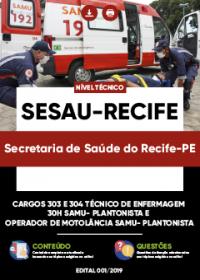 Cargos 303 e 304 - SESAU-Recife