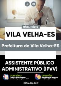 Assistente Público Administrativo (IPVV) - Prefeitura de Vila Velha-ES