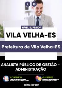 Analista Público de Gestão - Administração - Prefeitura de Vila Velha-ES
