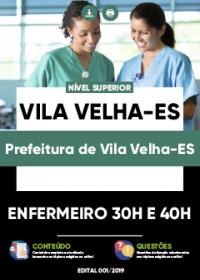 Enfermeiro 30h e 40h - Prefeitura de Vila Velha-ES
