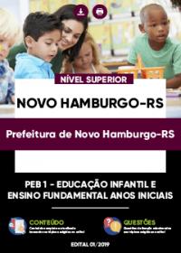 PEB 1 - Educação Infantil e Ensino Fundamental - Prefeitura de Novo Hamburgo-RS