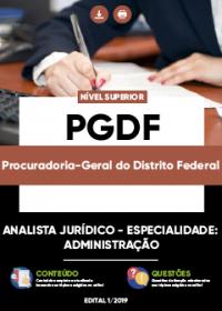 Analista Jurídico - Administração - PGDF