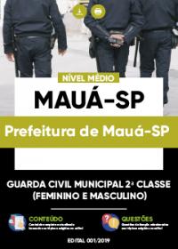 Guarda Civil Municipal 2ª Classe - Prefeitura de Mauá-SP