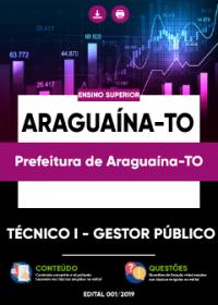 Técnico I - Gestor Público - Prefeitura de Araguaína-TO