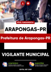 Vigilante Municipal - Prefeitura de Arapongas-PR