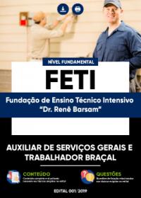 Auxiliar de Serviços Gerais e Trabalhador Braçal - FETI