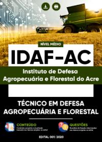 Técnico em Defesa Agropecuária e Florestal - IDAF-AC