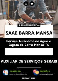 Auxiliar de Serviços Gerais - SAAE Barra Mansa(RJ)
