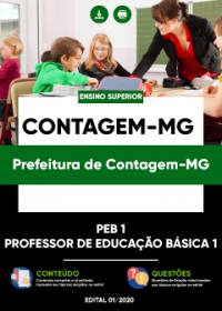 PEB 1 (Professor de Educação Básica 1) - Prefeitura de Contagem-MG