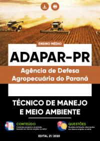 Técnico de Manejo e Meio Ambiente - ADAPAR-PR