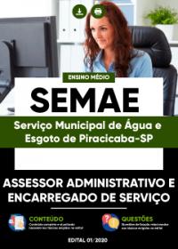 Assessor Administrativo e Encarregado de Serviço - SEMAE PIRACICABA