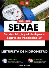 Leiturista de Hidrômetro - SEMAE PIRACICABA