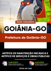 Artífice Manutenção Mecânica-Serviços Obras Públicas - Prefeitura de Goiânia-GO