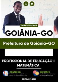 Profissional de Educação II - Matemática - Prefeitura de Goiânia-GO