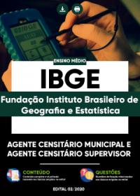 Agente Censitário Municipal e Agente Censitário Supervisor - IBGE