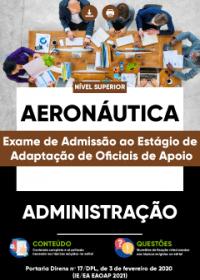 Administração - Aeronáutica (Exame de Admissão ao Estágio de Adaptação)