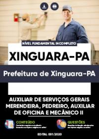Auxiliar de Serviços Gerais, Merendeira e outros - Prefeitura de Xinguara-PA