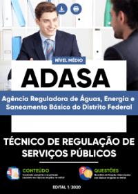 Técnico de Regulação de Serviços Públicos - ADASA