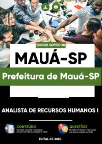 Analista de Recursos Humanos I - Prefeitura de Mauá-SP