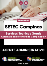 Agente Administrativo - SETEC Campinas
